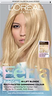 L'Oréal Paris Feria Multi-Faceted Shimmering Permanent Hair Color, 11.21 Bad to the Blonde (Ultra Pearl Blonde), 1 kit Hair Dye