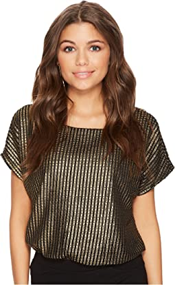Jack by BB Dakota - Osirus Metallic Mesh Top