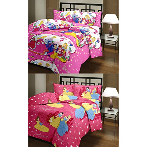 VASNM Terrycloth Barbie Princess and Dream Quilt(Multicolour) - Pack of 2