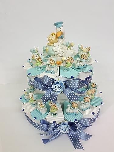Torte Bomboniere Baby Himmlische Auflagefl e Geburtstag, Geburt, Taufe mit K chen 25 FETTE ( 2 PIANI )