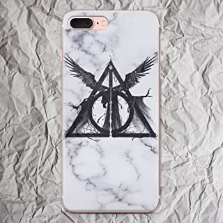 White Marble Harry Potter Phone Case for iPhone X 8 7 6s 6 Plus se 5se 5 5s 5c 4s 4 Cases 3 Three Brothers Deathly Hallows Print i Phone Case gifts Fandom Silicone Cover