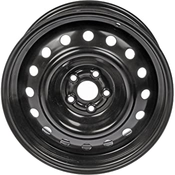 Dorman 939-174 Black Wheel with Painted Finish (16 x 6.5 inches /5 x 100 mm, 38 mm Offset)