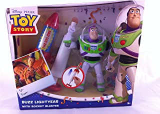 Disney Pixar Toy Story Buzz Lightyear Action Figure with Rocket Blaster