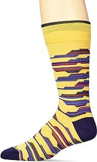 BUGATCHI Men's Fashion Mercerized Cotton Conversational Print Sock