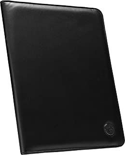 Case-it Executive Leatherette Padfolio with Letter Size Writing Pad, Black, PAD-30