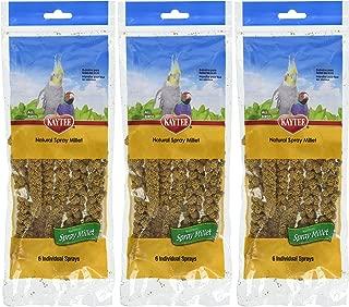 (3 Pack) Kaytee Spray Millet For Birds, 6-Count Each