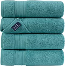 Hammam Linen 100% Cotton 27x54 4 Piece Set Bath Towels Green Water Super Soft, Fluffy, and Absorbent, Premium Quality Perf...