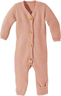 100% Organic Merino Wool Knitted Overall Romper Made in Germany