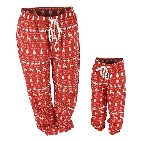 ce0355b4ff UB Winter Print Matching Family Holiday Pajama Pants