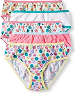 148aa57bc1 Girls 5 Pack Cotton Briefs Tag-Free Panties Underwear