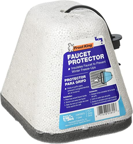 Frost King FC1 Outdoor Foam Faucet Cover, To Prevent Freeze (2 Pack)