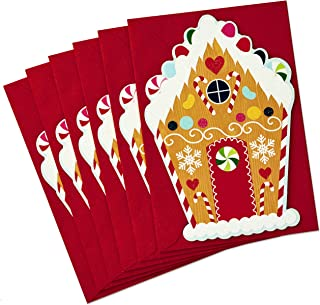 Hallmark Christmas Cards Pack, Gingerbread House (6 Cards with Envelopes)