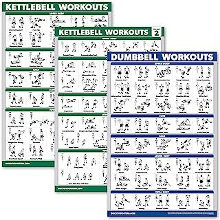 Palace Learning 3 Pack: Kettlebell Workouts Volume 1 & 2 + Halteroefeningen Poster Set - Set van 3 Workout Charts