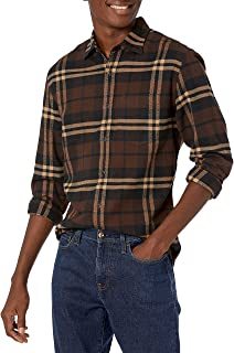 Men's Regular-fit Long-Sleeve Plaid Flannel Shirt_dnu
