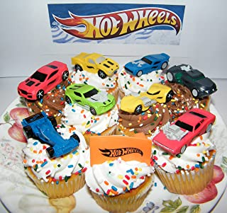 Race Car, Sports Car, High Tech Car Toy Figure Birthday Cake Toppers / Cupcake Party Favor Decorations Set of 9