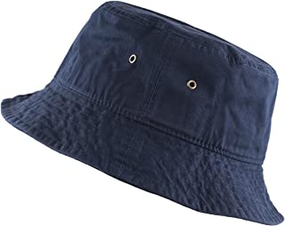 THE HAT DEPOT 300N Unisex 100% Cotton Packable Summer Travel Bucket Hat