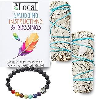 JL Local White Sage Smudge Sticks Bundles Gift Set – California Sage –..
