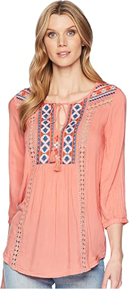 Roper 1568 Solid Cotton Rayon Peasant Blouse