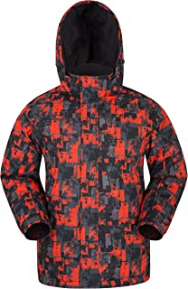Shadow Mens Printed Ski Jacket - Fleece Lined Winter Snow Jacket