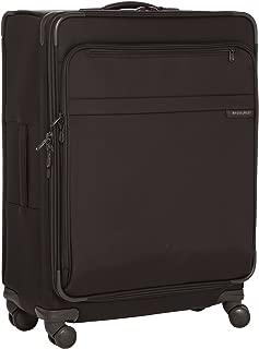 @ Baseline Luggage Baseline Expandable Durable Spinner Bag, Black, Large