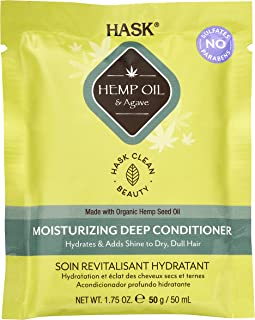 Hask Hemp Oil & Agave Moisturizing Deep Conditioner, 50g