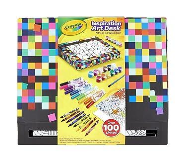 Crayola Inspiration Art Desk, 100+ Pieces, Art Set, Gift for Kids, Ages 4, 5, 6, 7, 8