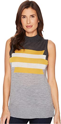 Graphic Merino Seeveless Mock Neck