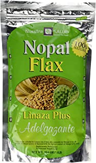Nopal Flax Linaza Plus Adelgazante454 GR/1LB