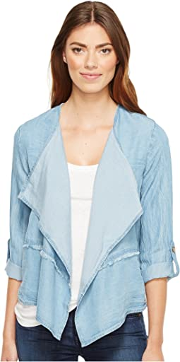 Mod-o-doc - Tencel Chambray Roll-Up Sleeve Drapey Jacket