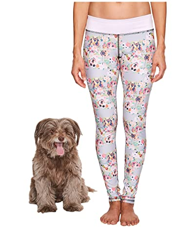 Puppies Make Me Happy Pawesome Blossom Leggings (Multi) Women
