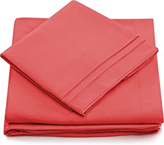 Twin XL Size Bed Sheets - Brink Pink Twin Extra Long Bedding Set - Deep Pocket - Ultra Soft Luxury Hotel Sheets- Hypoallergenic - Cool & Breathable - Wrinkle, Stain, Fade Resistant - 3 Piece