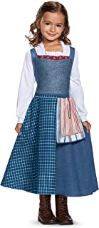 Disguise Belle Village Dress Classic Movie Costume, Multicolor, Medium (7-8)
