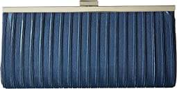 Laura Pleated Satin Framed Clutch
