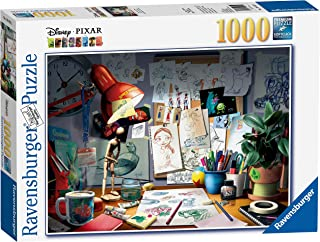 Ravensburger Disney Pixar - The Artist's Desk Puzzle 1000 Piece Jigsaw Puzzle for Adults – Every piece is unique, Softclick technology Means Pieces Fit Together Perfectly