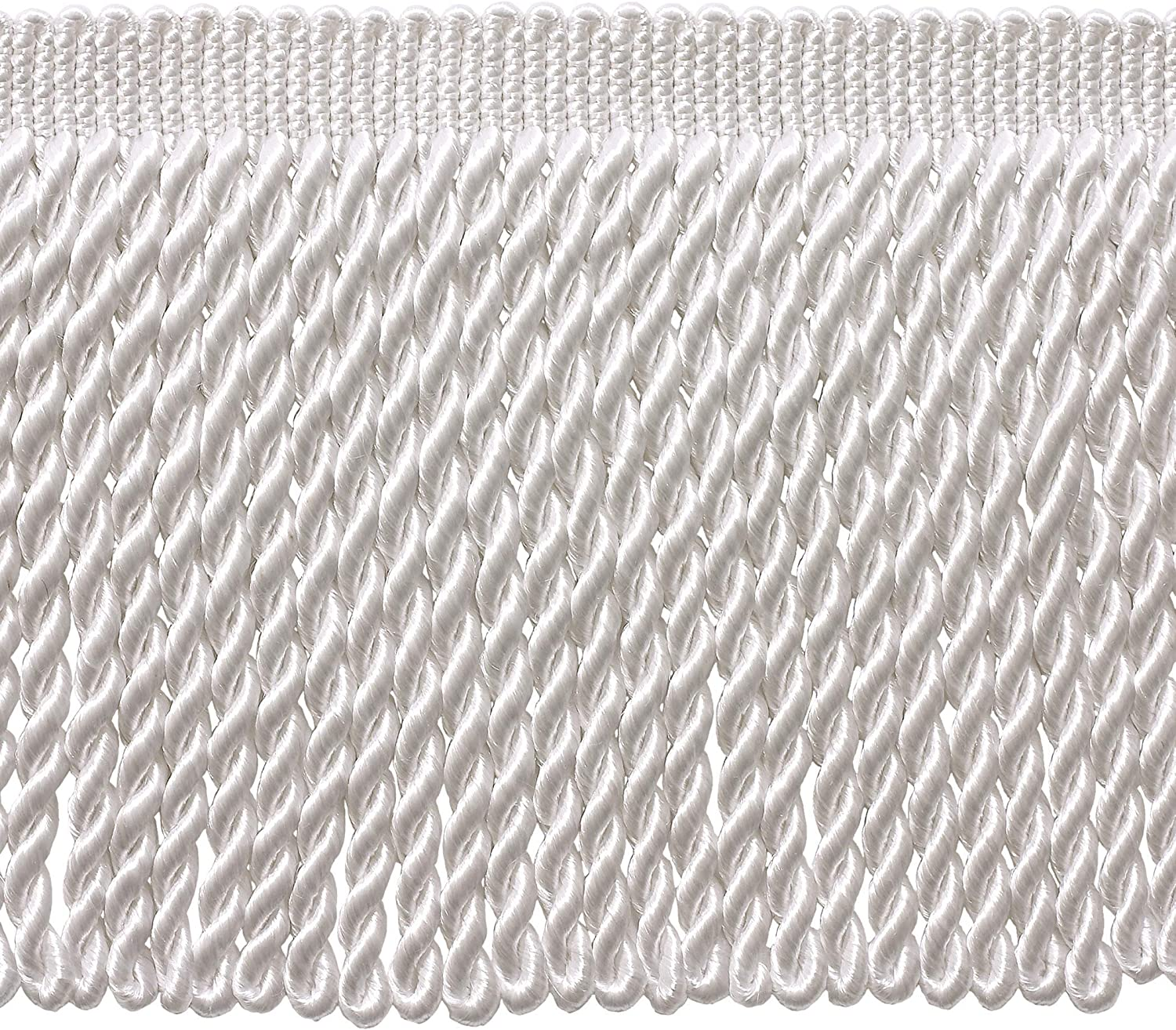 DÉCOPRO 5 Yard Value Pack - 6 White sold out Long Popular products Inch Fringe Bullion Tri
