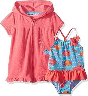 Renlinwell Baby Girls Swimsuit One Piece Swimwear Embroidered Rabbit Beach Bathing Bikini Suit