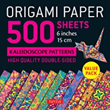 """Origami Paper 500 sheets Kaleidoscope Patterns 6"""" (15 cm): Tuttle Origami Paper: High-Quality Double-Sided Origami Sheets ..."""
