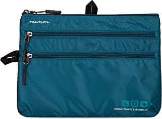 Travelon World Travel Essentials Seat Pack Organizer, Peacock Teal, One Size