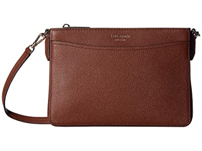 Kate Spade New York Margaux Medium Convertible Crossbody (Cinnamon Spice) Handbags