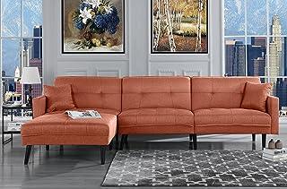 Amazon.com: Orange - Sofas & Couches / Living Room Furniture ...