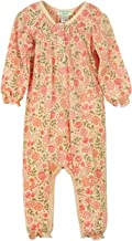 Feather Baby Girls Clothes Pima Cotton Long Sleeve Ruched Jumpsuit One Piece Romper