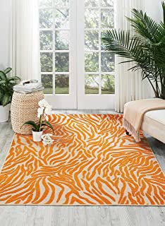 Nourison Aloha Orange Rectangle Area Rug, 7-Feet 10-Inches by 10-Feet 6-Inches (7'10