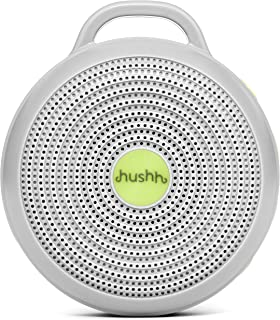 Marpac Hushh Portable White Noise Machine USB Rechargeable Baby-Safe Clip & Child Lock,Grey
