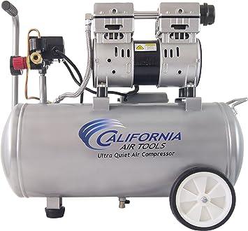 California Air Tools 8010 Steel Tank Air Compressor | Ultra Quiet, Oil-Free, 1.0 hp, 8 gal: image