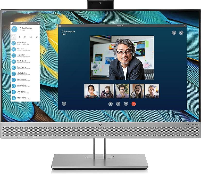 Monitor pc 24 pollici elite hp display e243m monitor 23.8`` casse audio e webcam integrati 1FH48AT#ABB