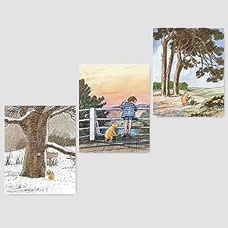 Classic Winnie the Pooh Wall Art (Baby Girls Prints, Boys Nursery Decor)