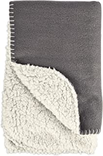 HARMONY Cozy Sherpa Pet Throw in Dark Grey