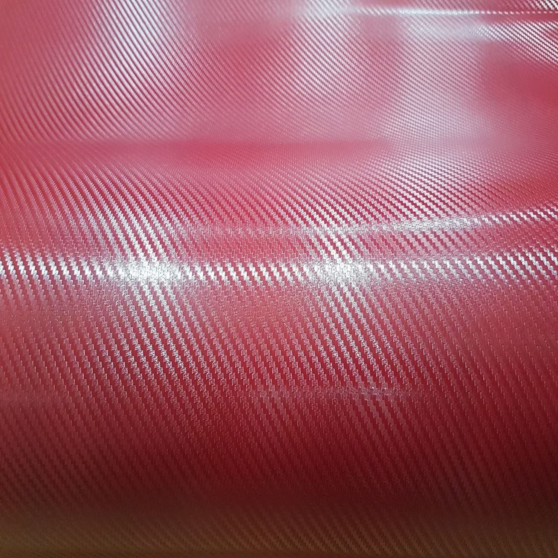 Romel 24 21 00 M Folie Selbstklebend Luftkanäle Carbon Rot 4d Deutsche Anleitung 30cm X 150cm Auto