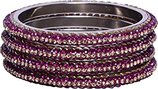 Sukriti Indian Partywear 3 Line Brass Bangles for Women & Girls - Set Of 4