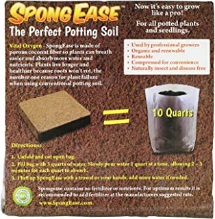 EnRoot Products LLC SpongEase Potting Soil (≈30 Quarts) - 3 Pack of 10 Quart Pop up Bags - Pro Coco Coir Potting Soil for Plants and Seed Starting